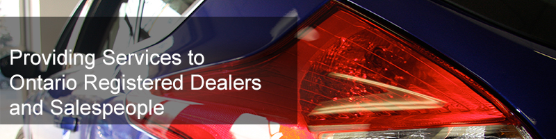 Providing Services for Ontario Registered Dealers